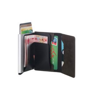 ארנק כרטיס אשראי קופץ - עור מלאכותי PU