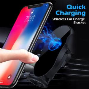 מעמד לפלאפון לרכב עם טעינה אלחוטית 15W וחיישן תנועה