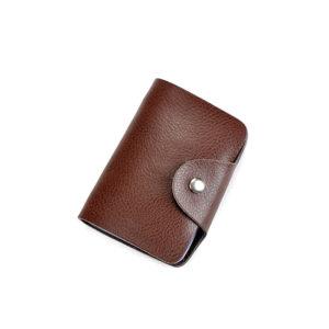 ארנק כרטיסי אשראי דמוי עור - עד 26 כרטיסים